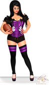 "Daisy Corset Plus Size Purple 2 PC Sexy ""Football Fantasy"" Costume"