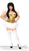 Daisy Corset Plus Size 4 PC Glitter Angel Costume
