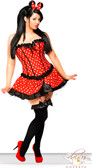 Daisy Corset Plus Size 3 PC Sexy Miss Mouse Costume