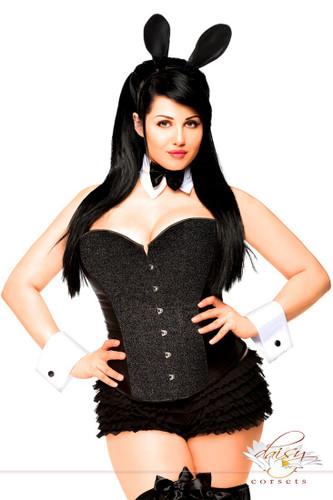 Daisy Corset Plus Size 5 PC Tuxedo Bunny Costume