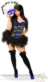 "Daisy Corset Plus Size  3 PC Sexy ""Pretty Peacock"" Costume"