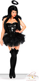 Daisy Corset Plus Size 4 PC Sexy Sequin Dark Angel Costume