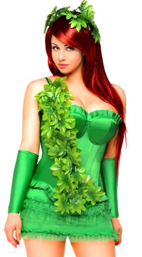 "Daisy Corset Plus Size 4 PC Sexy ""Ivy Vixen"" Costume"