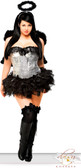 Daisy Corset Plus Size 4 PC Sequin Dark Angel Costume