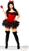 Daisy Corset 4 PC Pin-Up Devil Costume