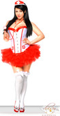 Daisy Corset Plus Size 4 PC Nurse Costume