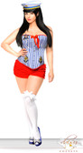 Daisy Corset Plus Size 3 PC Pin-Up Sailor Girl Costume