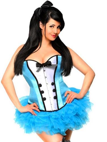 Daisy Corset Plus Size 4 PC Sexy Alice Costume
