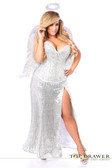 Daisy Corset Top Drawer Premium Sequin Angel Corset Costume