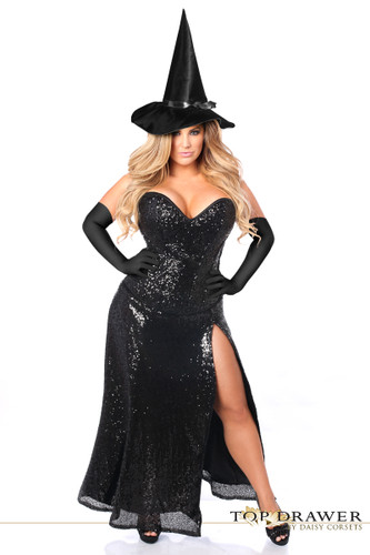 Daisy Corset Top Drawer Premium Sequin Witch Corset Costume