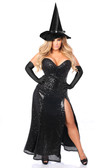 Daisy Corset Top Drawer Premium Sequin Witch Corset Costume