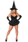 Daisy Corset Top Drawer Premium Sequin Witch Corset Dress Costume