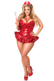 Daisy Corset Top Drawer Premium Sequin Nurse Corset Dress Costume