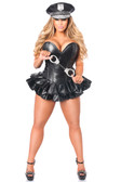 Daisy Corset Top Drawer Premium Faux Leather Cop Corset Dress Costume