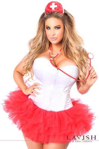 Daisy Corset Lavish Flirty Nurse Corset Costume