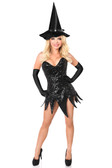 Daisy Corset Top Drawer Sequin Witch Corset Dress Costume