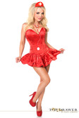 Daisy Corset Top Drawer Nurse Corset Dress Costume