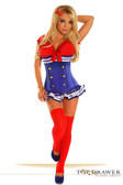 Daisy Corset Top Drawer 3 PC Pin-Up Sailor Girl Costume