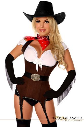 "Daisy Corset Top Drawer ""Ride 'em Cowgirl"" Premium Corset Costume"