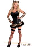 Daisy Corset Lavish 4 PC Naughty Leopard Costume