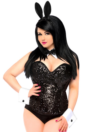 Daisy Corset Top Drawer 4 PC Sequin Bunny Costume