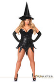Daisy Corset Top Drawer Plus Size Sequin Witch Corset Dress Costume