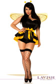 Daisy Corset Lavish Plus Size 4 PC Queen Bee Costume