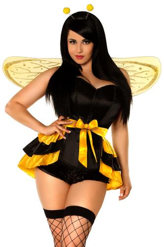 Daisy Corset Lavish Plus Size 4 PC Queen Bee Costume