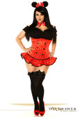 "Daisy Corset Top Drawer Plus Size ""Miss Mouse"" Costume"