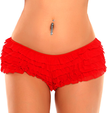 Daisy Corset Red Ruffle Panty with Bow