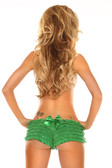 Daisy Corset Green Ruffle Panty with Bow