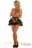 Daisy Corset Camouflage Layered Ruffle Skirt