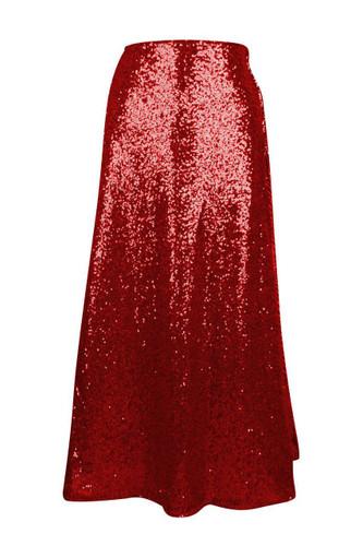 Daisy Corset Red Long Sequin Skirt