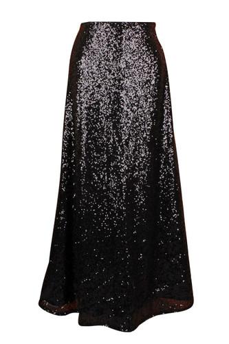 Daisy Corset Black Long Sequin Skirt
