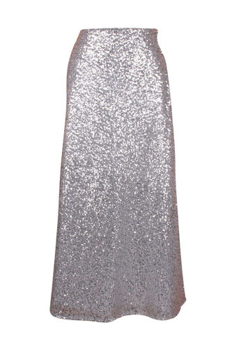 Daisy Corset Silver Long Sequin Skirt