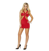Roma Costume Open Strapped Tubed Mini Dress