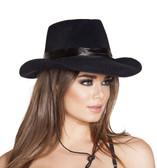Roma Costume Black Cowboy Hat