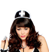 Roma Costume Black Nurse Hat with Cross