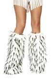 Roma Costume LW4473 Fur Leg Warmer - Black/White