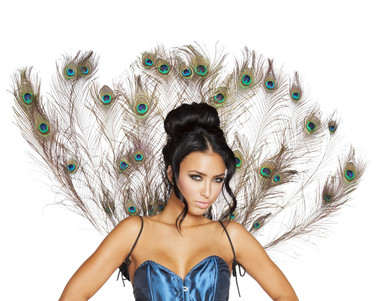 Roma Costume Peacock Tail Feather