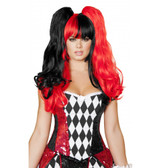 Roma Costume Black Red Wig