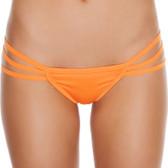 Roma Costume Triple Strapped String Back Bottom - Orange