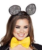 Roma Costume Head Piece Rhinestone Mouse Ears