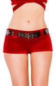 Roma Costume Velvet Shorts with Belt