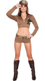Roma Costume 4Pc Sexy Soldier Babe