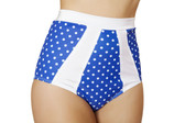 Roma Costume High-Waisted Pinup Style Shorts - Blue/White