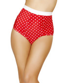 Roma Costume Pinup Style High-Waisted Banded Shorts - Red/White