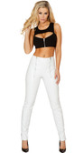 Roma Costume Cropped Top with Zip Up Front