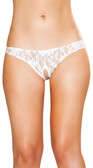 Roma Costume Cutout Lace Shorts - White