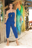 Mapale Bandeau Top Jumpsuit - Blue